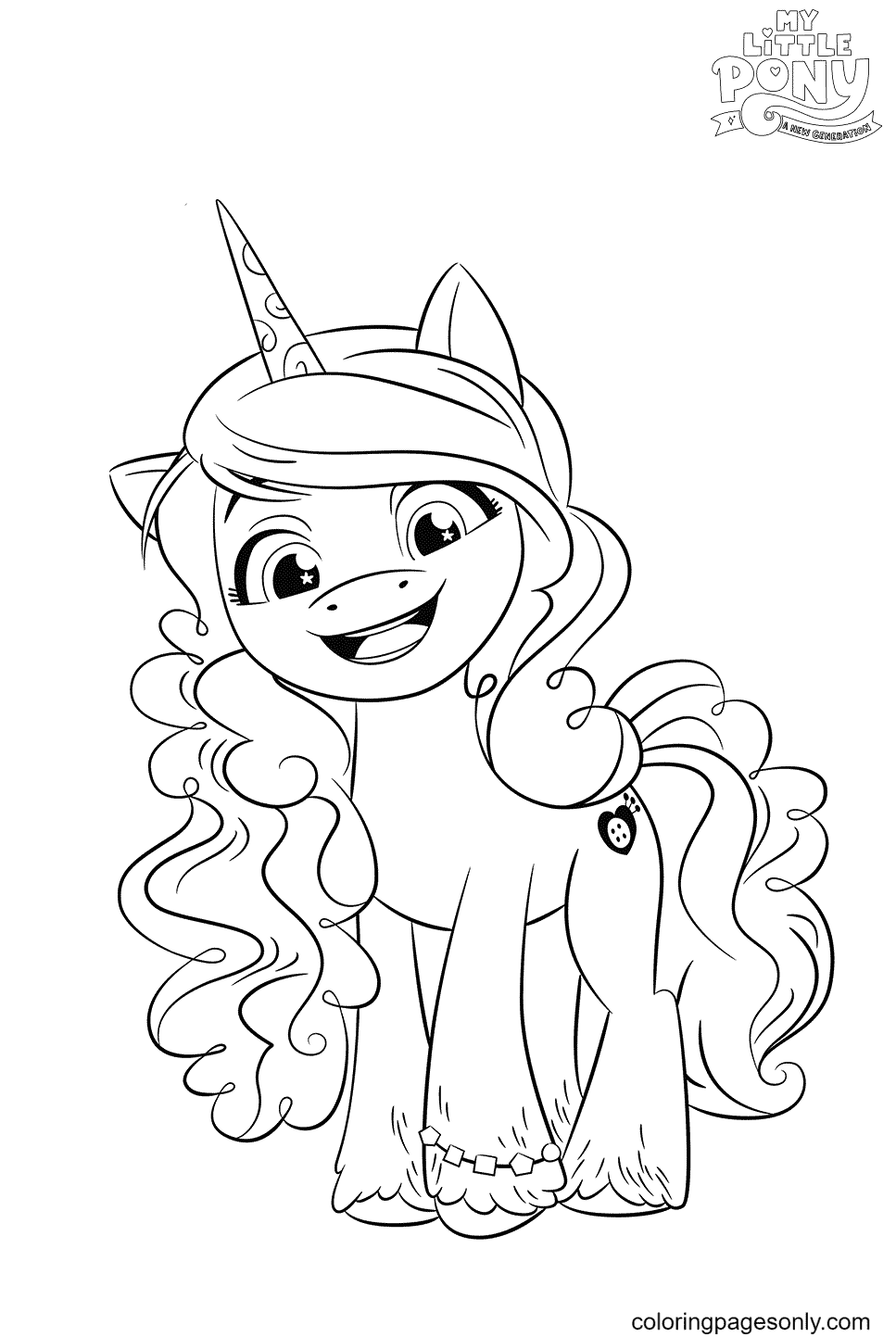 MLP G5 Izzy Moonbow Coloring Page
