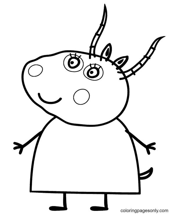 Madame Gazelle Coloring Page