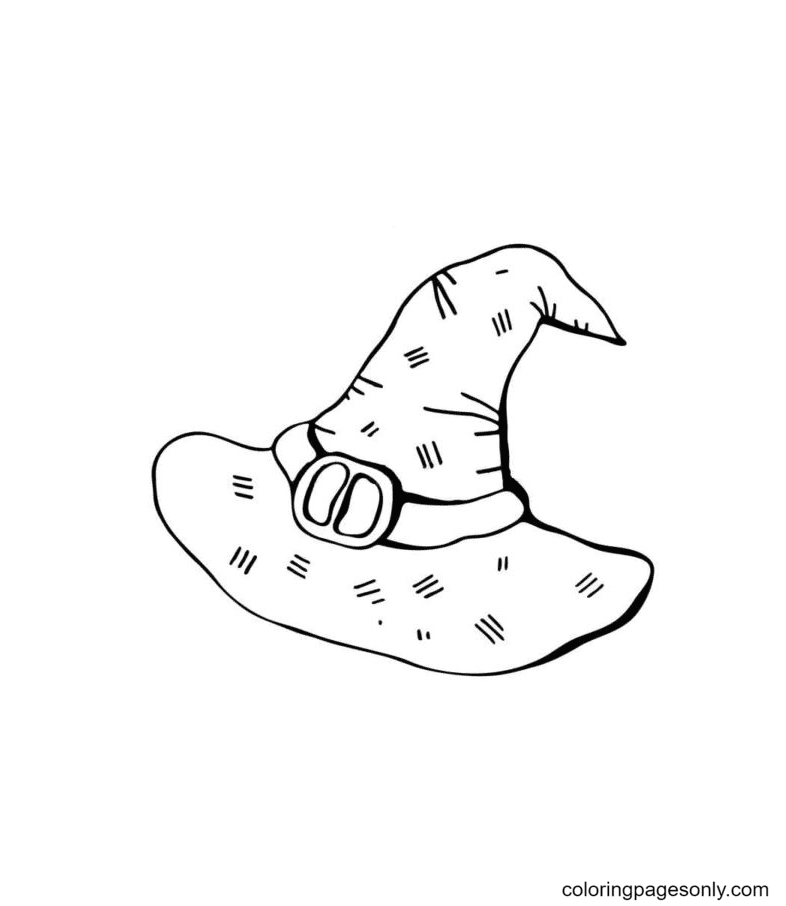 Magical Witch Hat Coloring Page