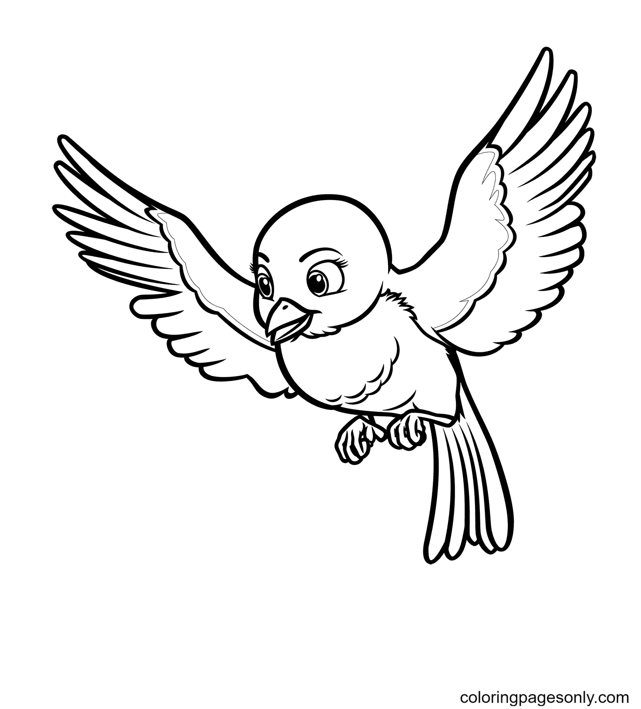 Mia the Bluebird from Sofia the First Coloring Page