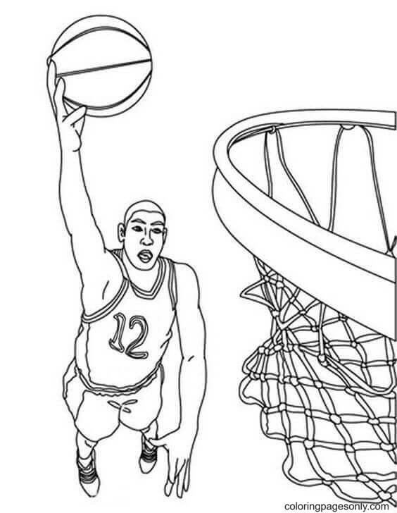 Michael Jordan Coloring Page