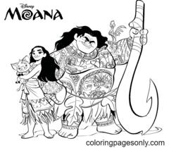 Moana Coloring Page