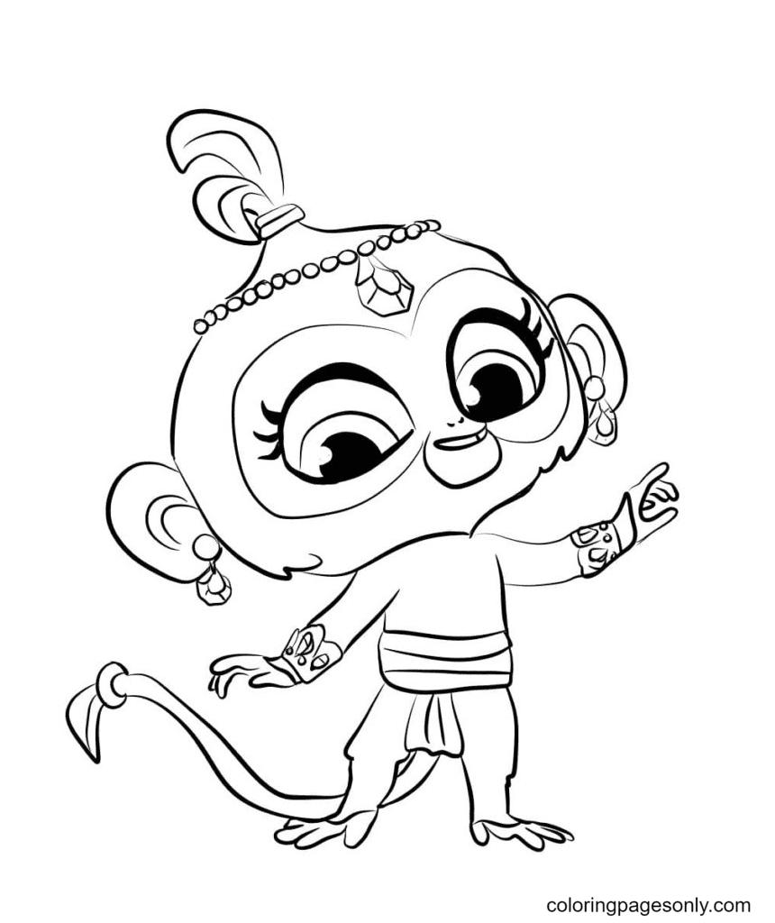 Monkey Tala Coloring Page