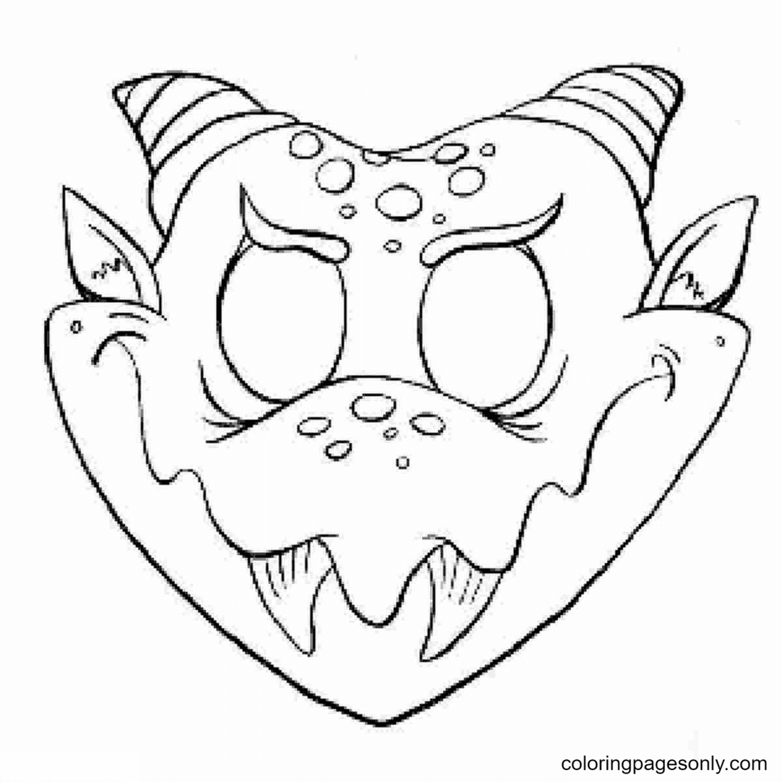 Monster Mask Printable Coloring Page