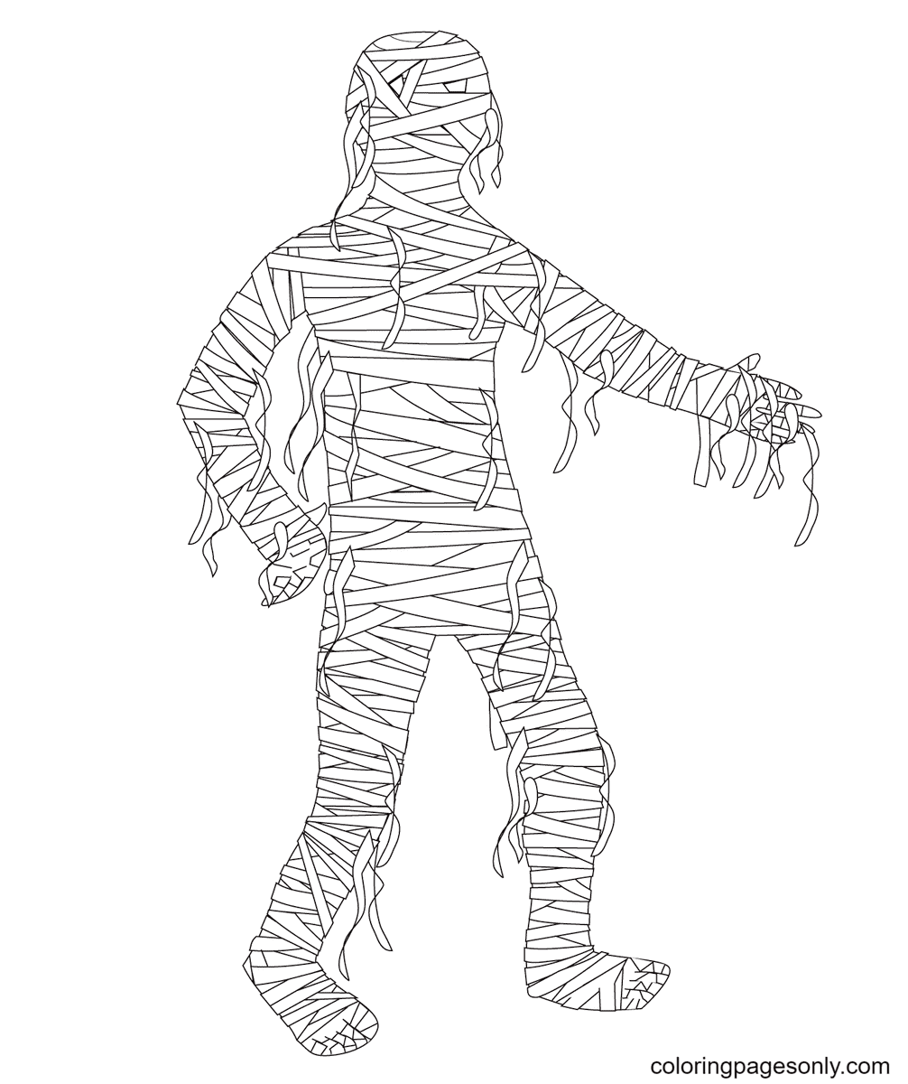 Mummy Free Coloring Page