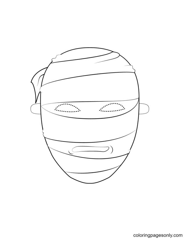 Mummy Mask Coloring Page