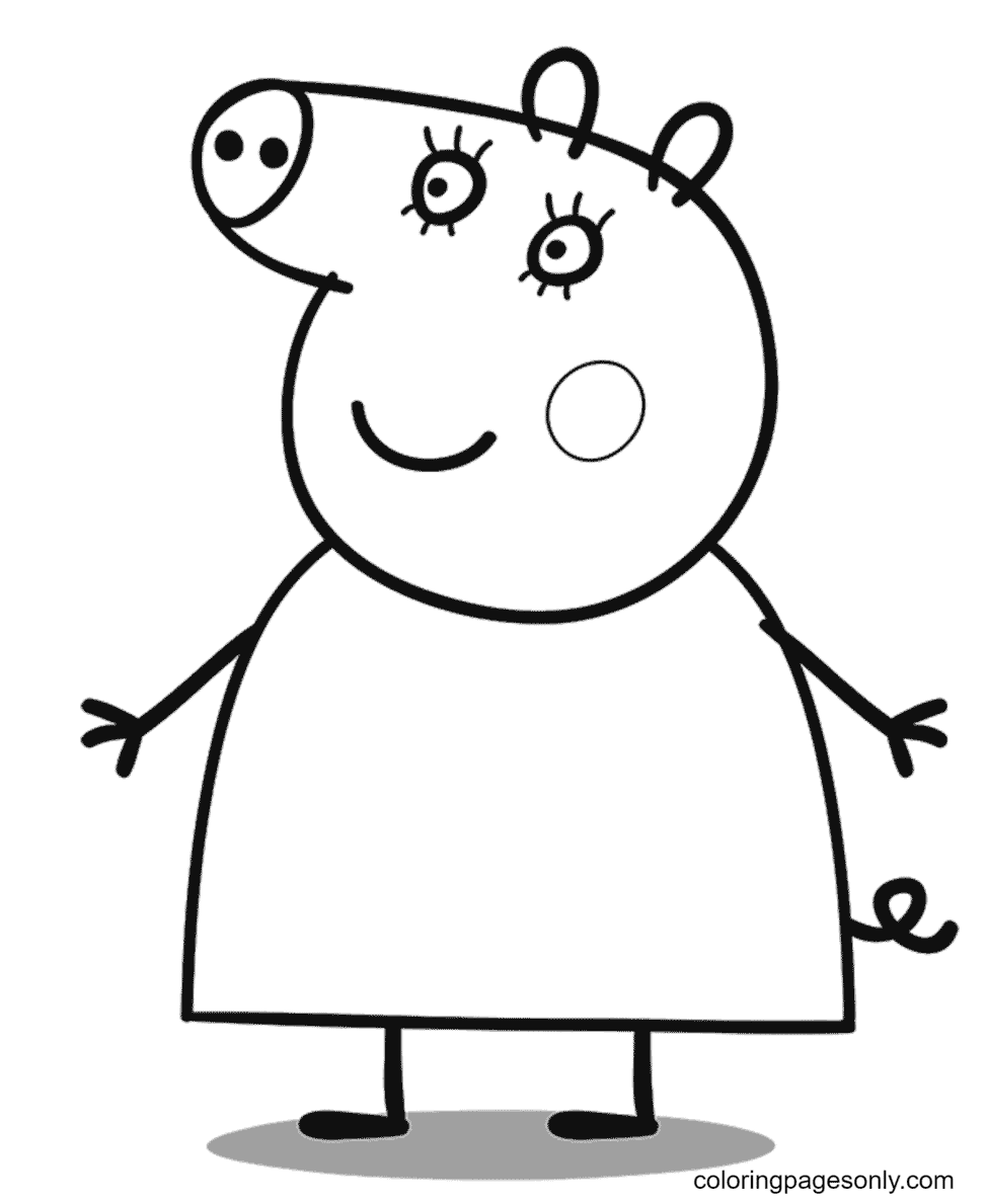 Mummy Pig Coloring Page