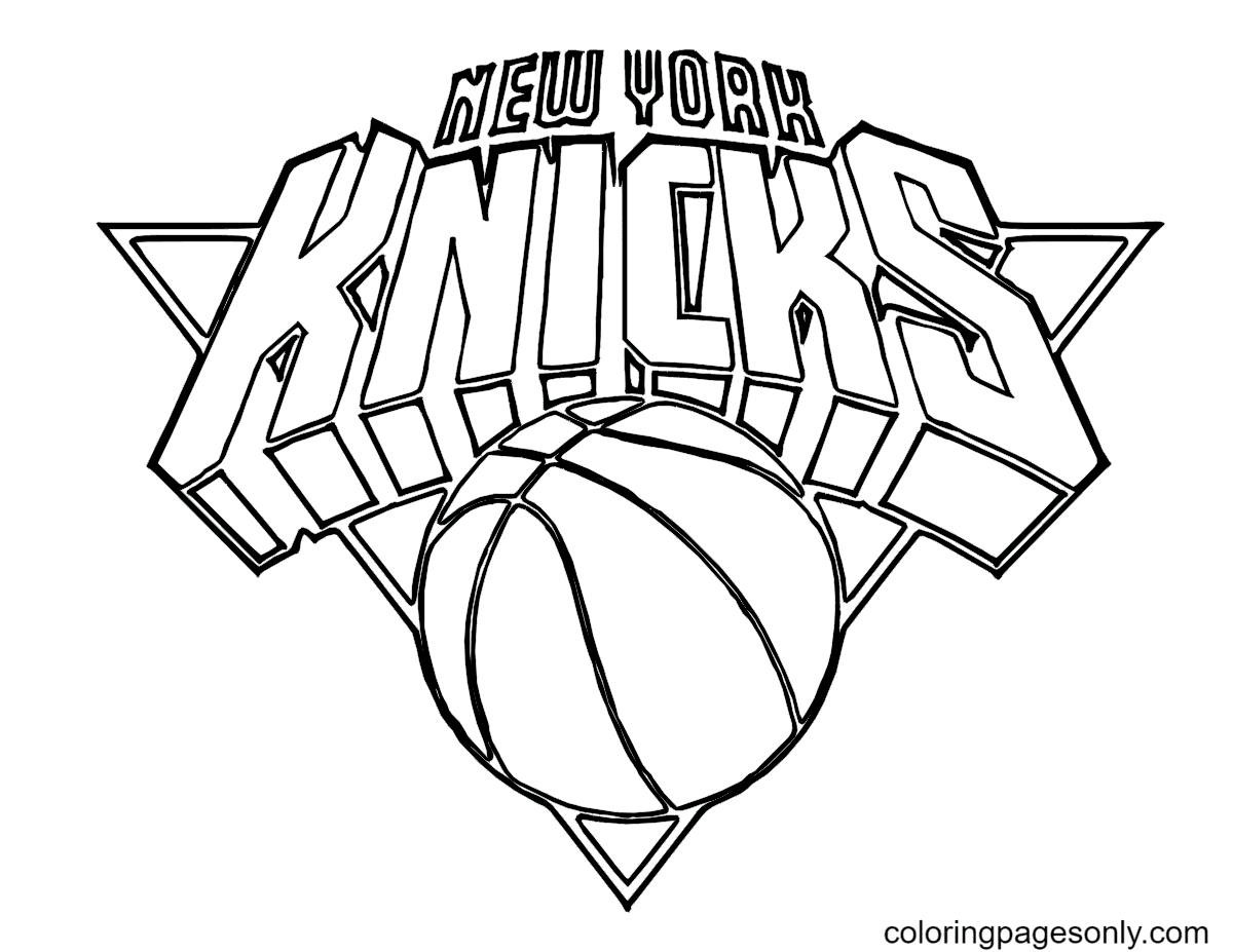 NBA Logo Basketball Coloring Page