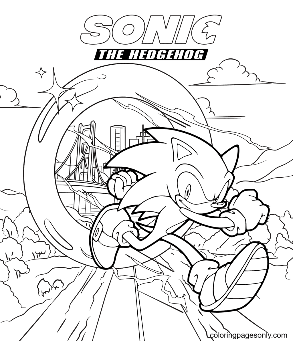 Naughty Sonic Coloring Page