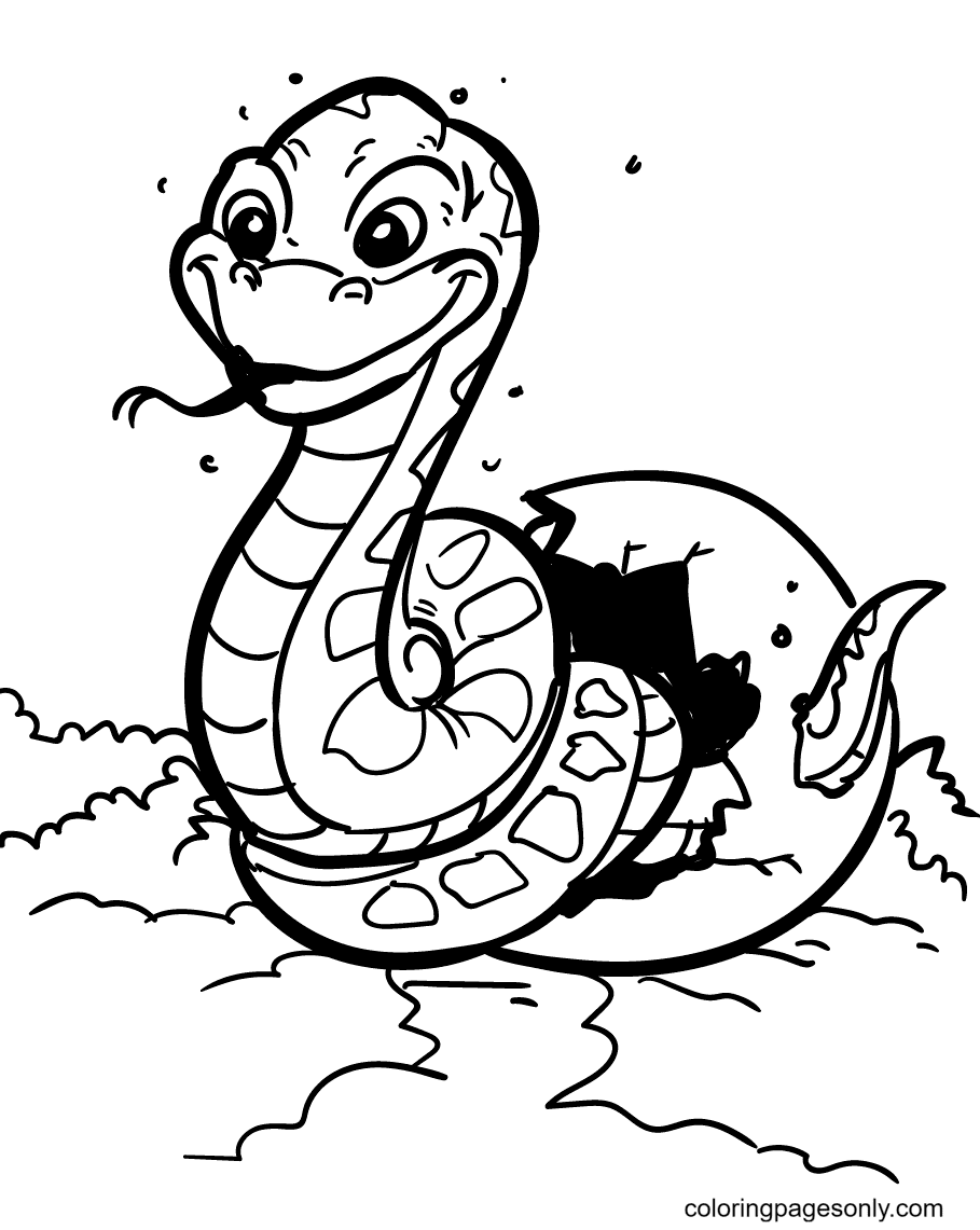 Newborn Snake Coloring Page
