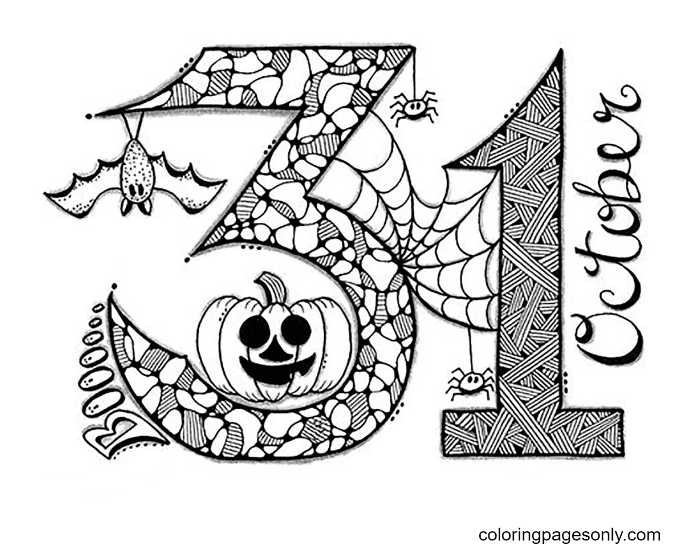 October 31 Coloring Page