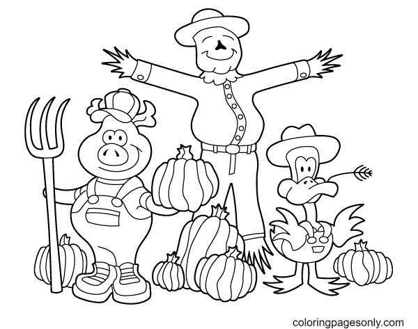 October Harvest Coloring Page