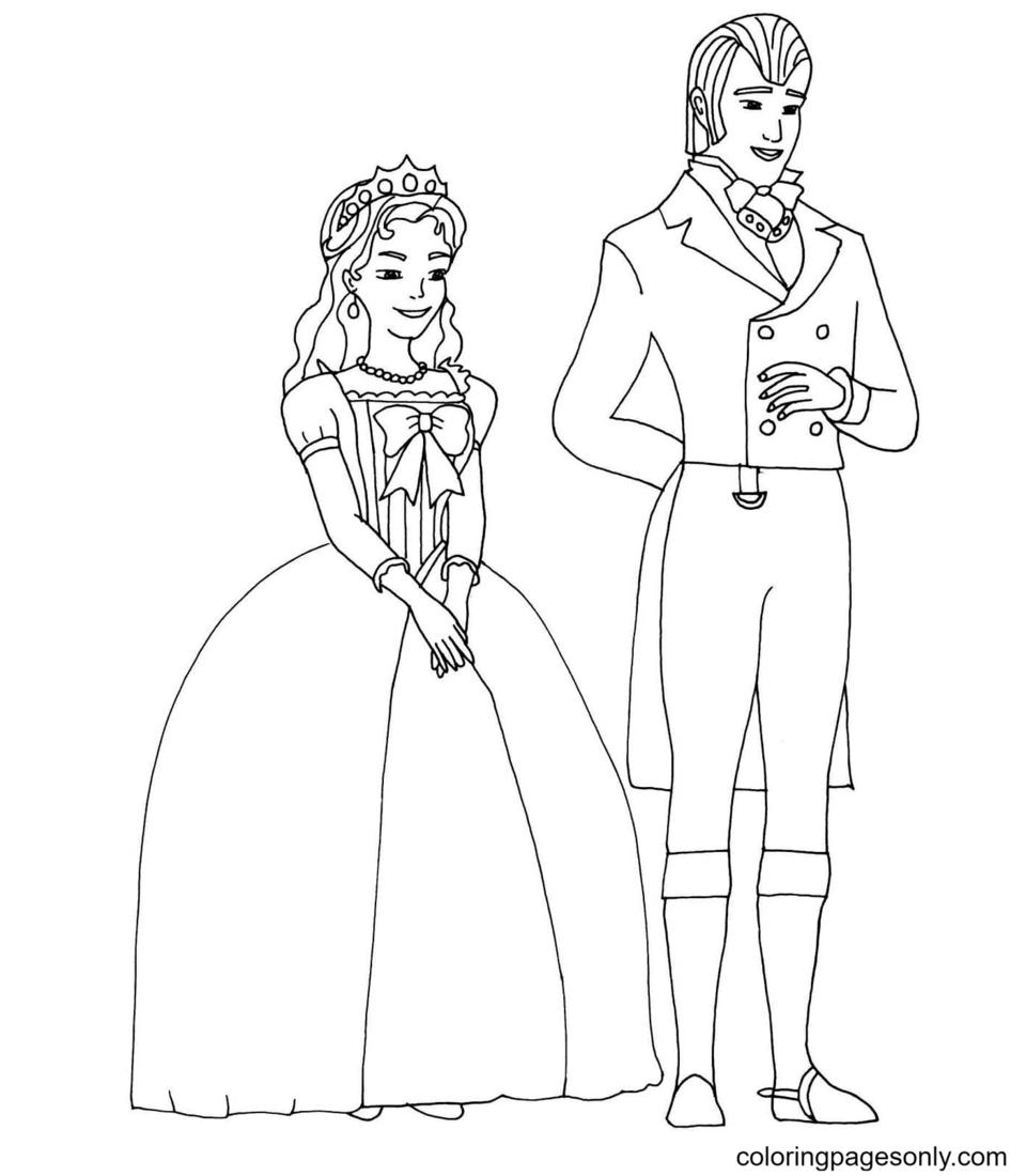 Parents of Princess Sofia Coloring Page