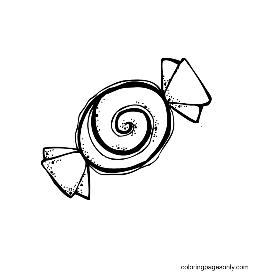 Peppermint Candy Coloring Page
