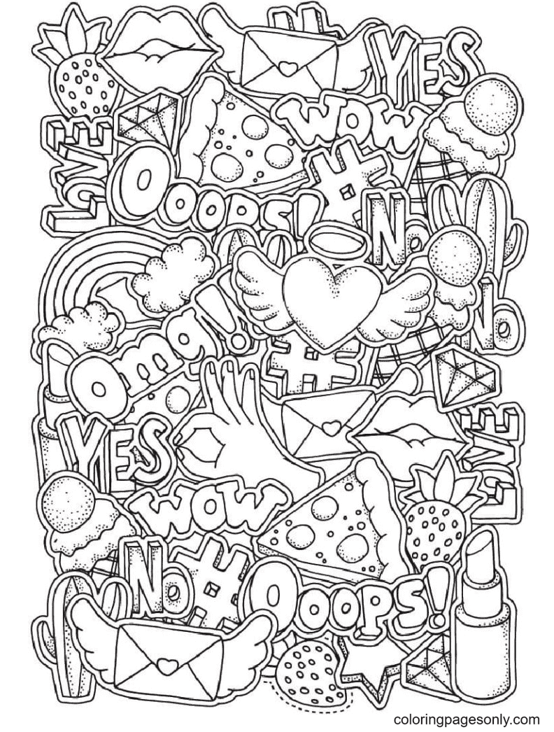 Picture for Personal Diary Coloring Page