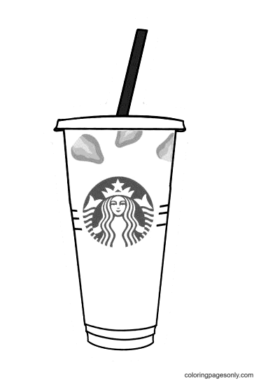Pink Drink Starbucks Coloring Page
