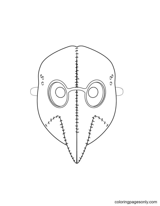 Plague Mask Coloring Page