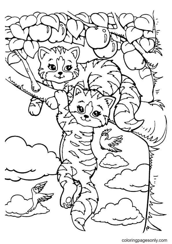 Playtime And Sunflower Lisa Frank Coloring Page