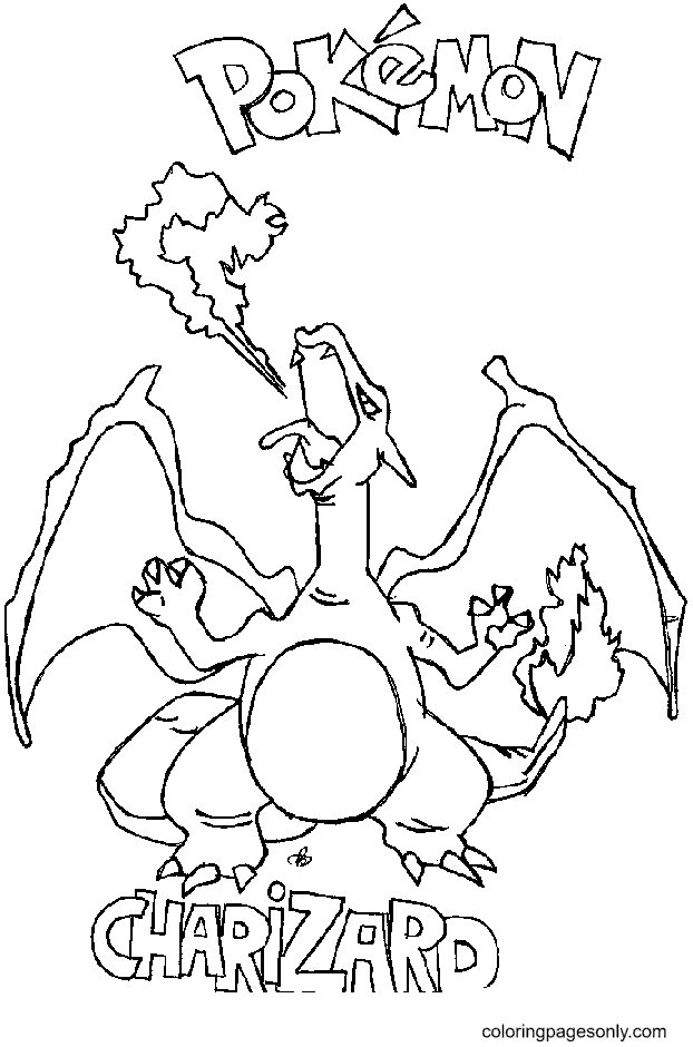 Pokemon Charizard Printable Coloring Page
