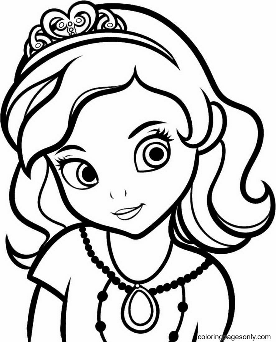 Pretty Princess Sofia Coloring Page