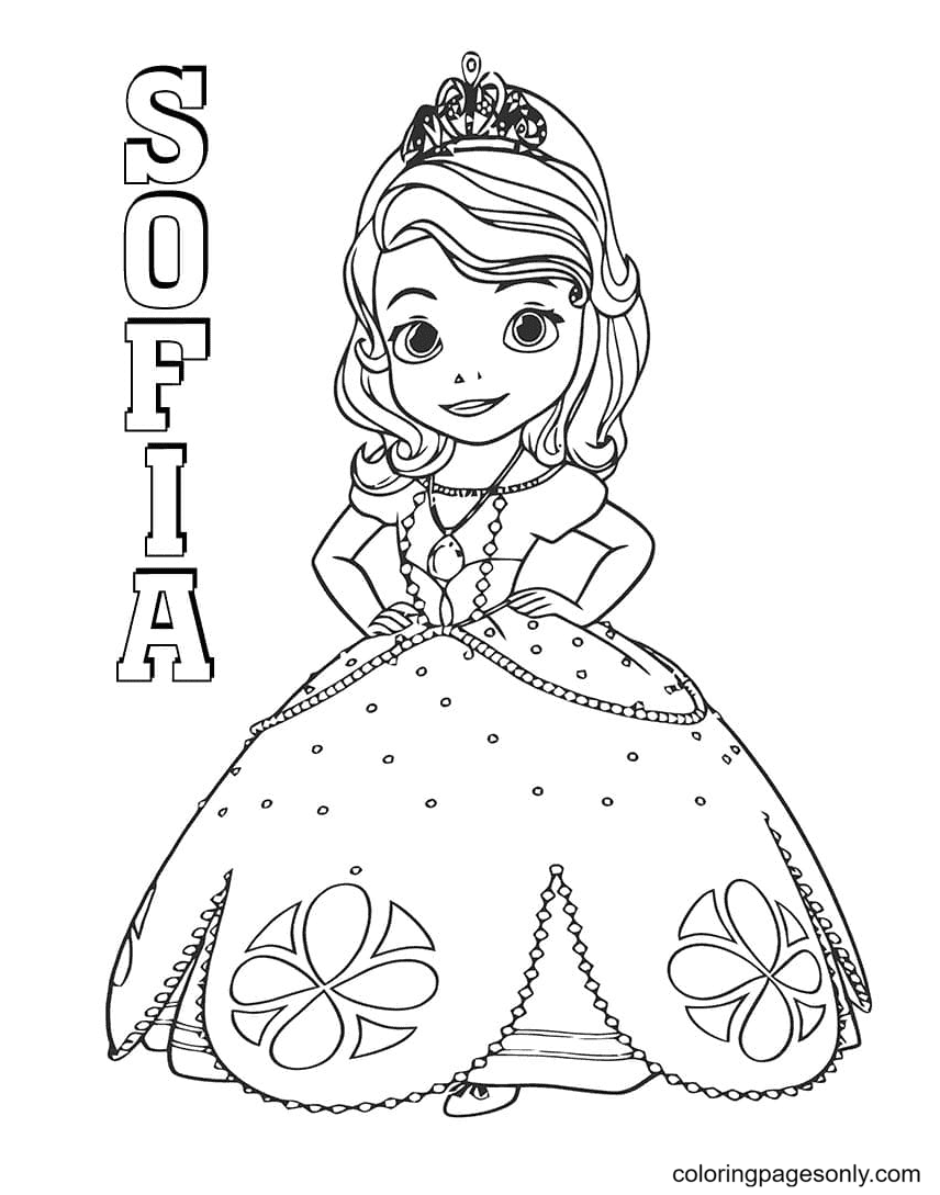 Princess Sofia from Sofia the First Coloring Page