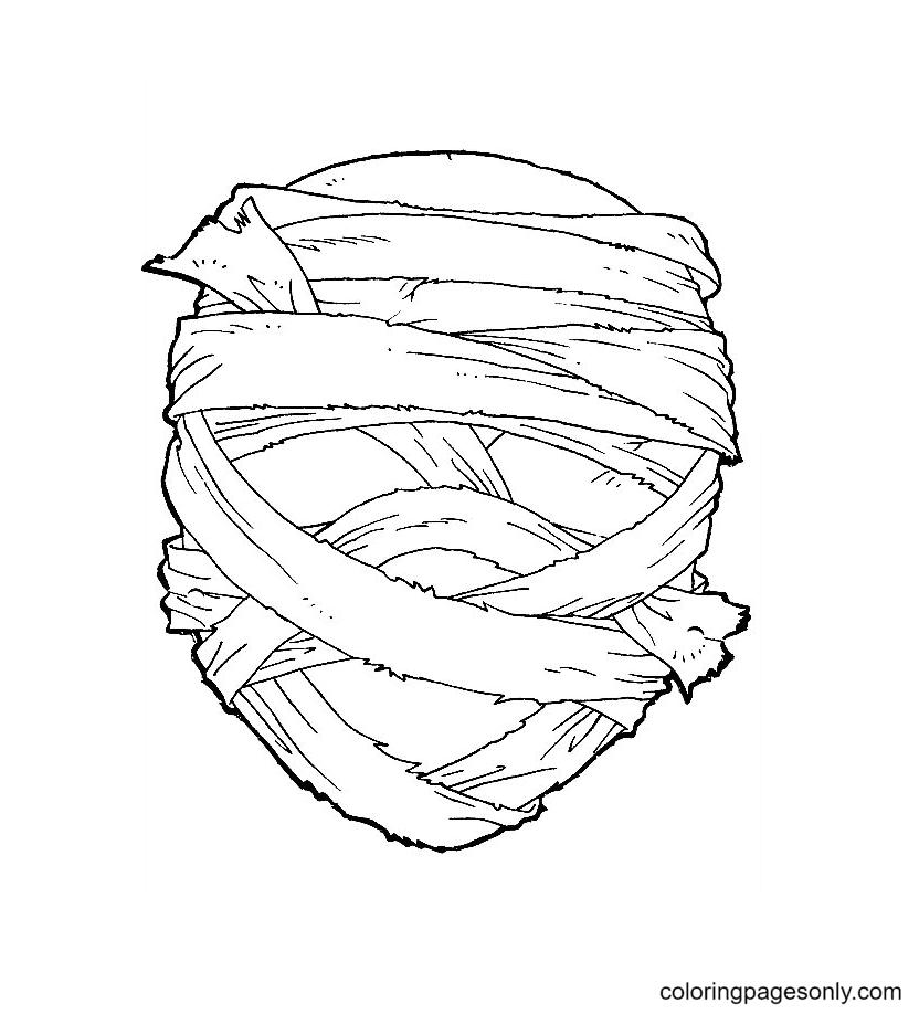 Printable Halloween Mask Free Coloring Page