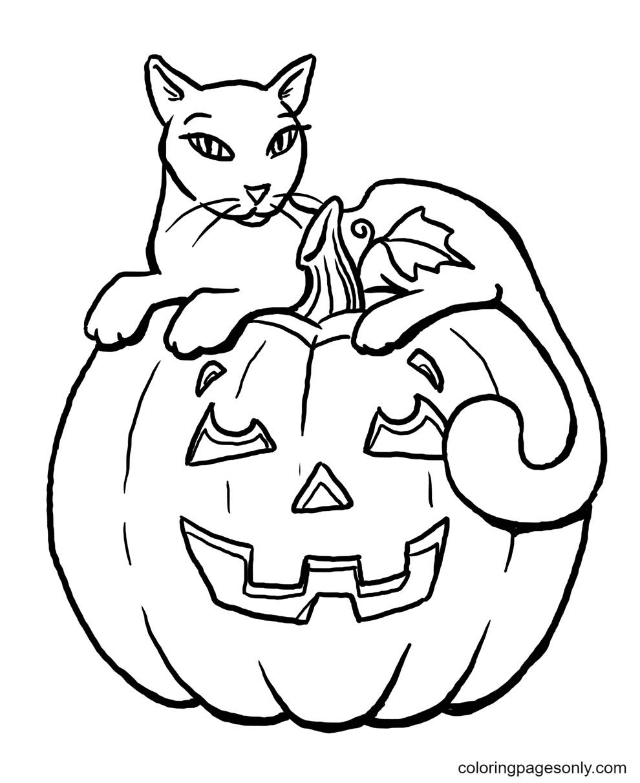 Printable Halloween Pumpkins Coloring Page