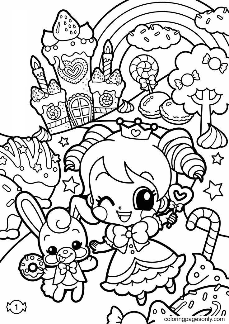 Printable Kawaii Kawaii Coloring Page