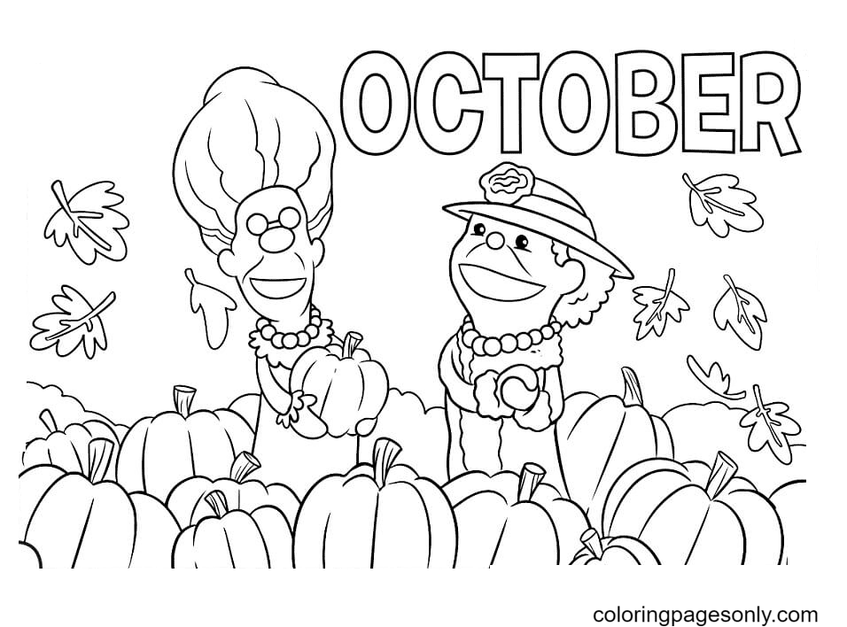 Printable October Coloring Page