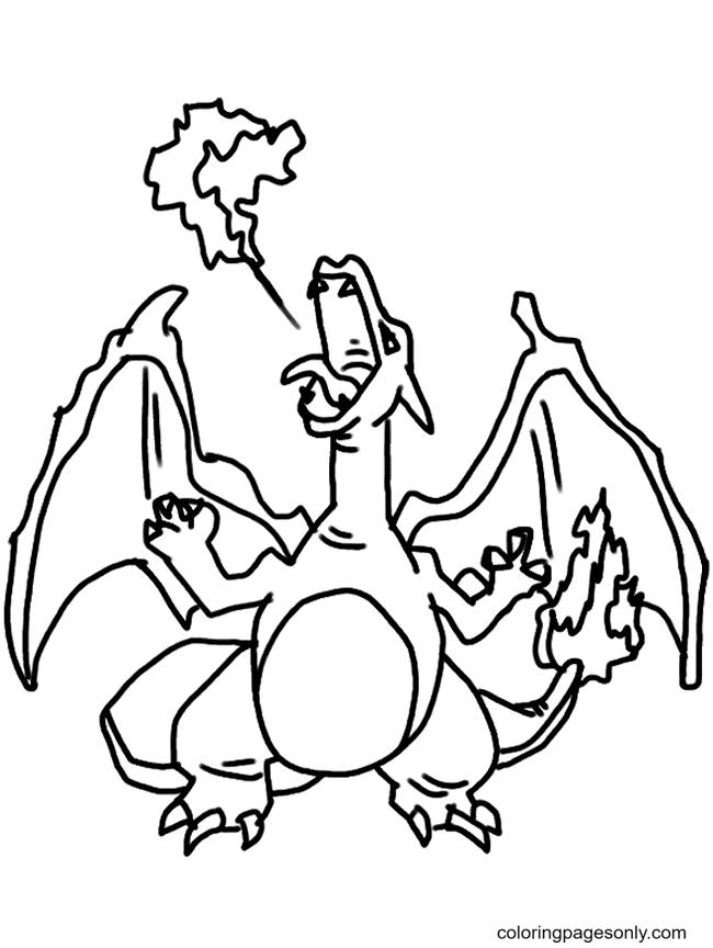 Printable Pokemon Charizard Coloring Page