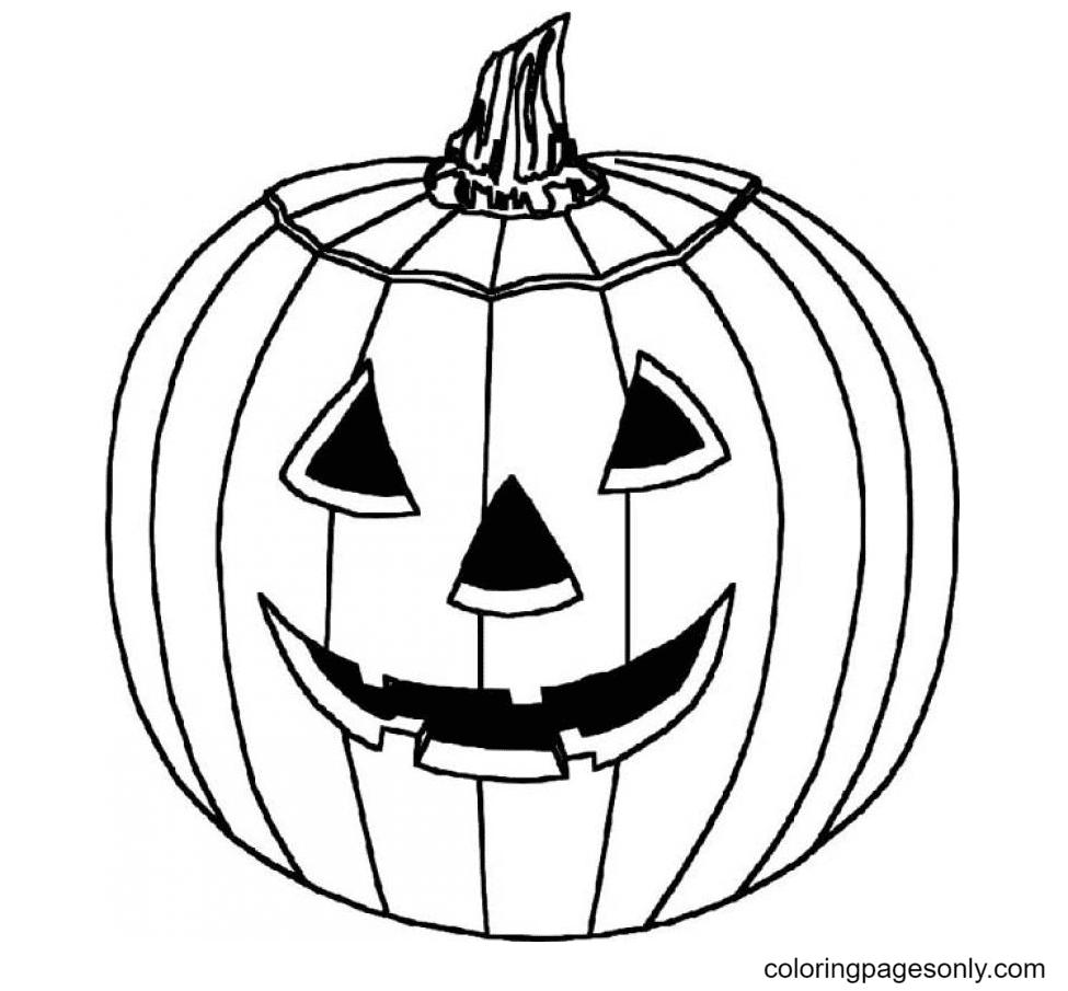 Printable Pumpkin Halloween Coloring Page