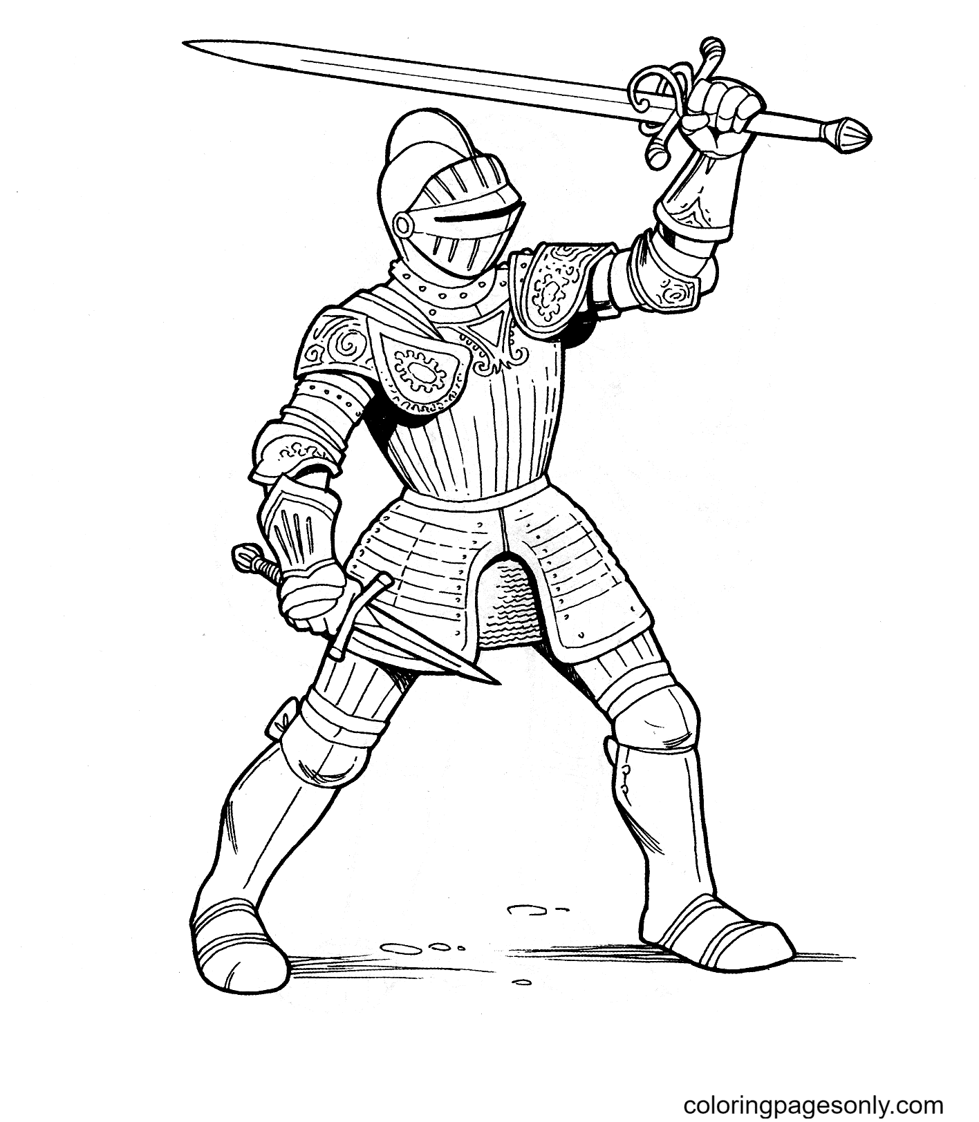 Printable Soldier Coloring Page