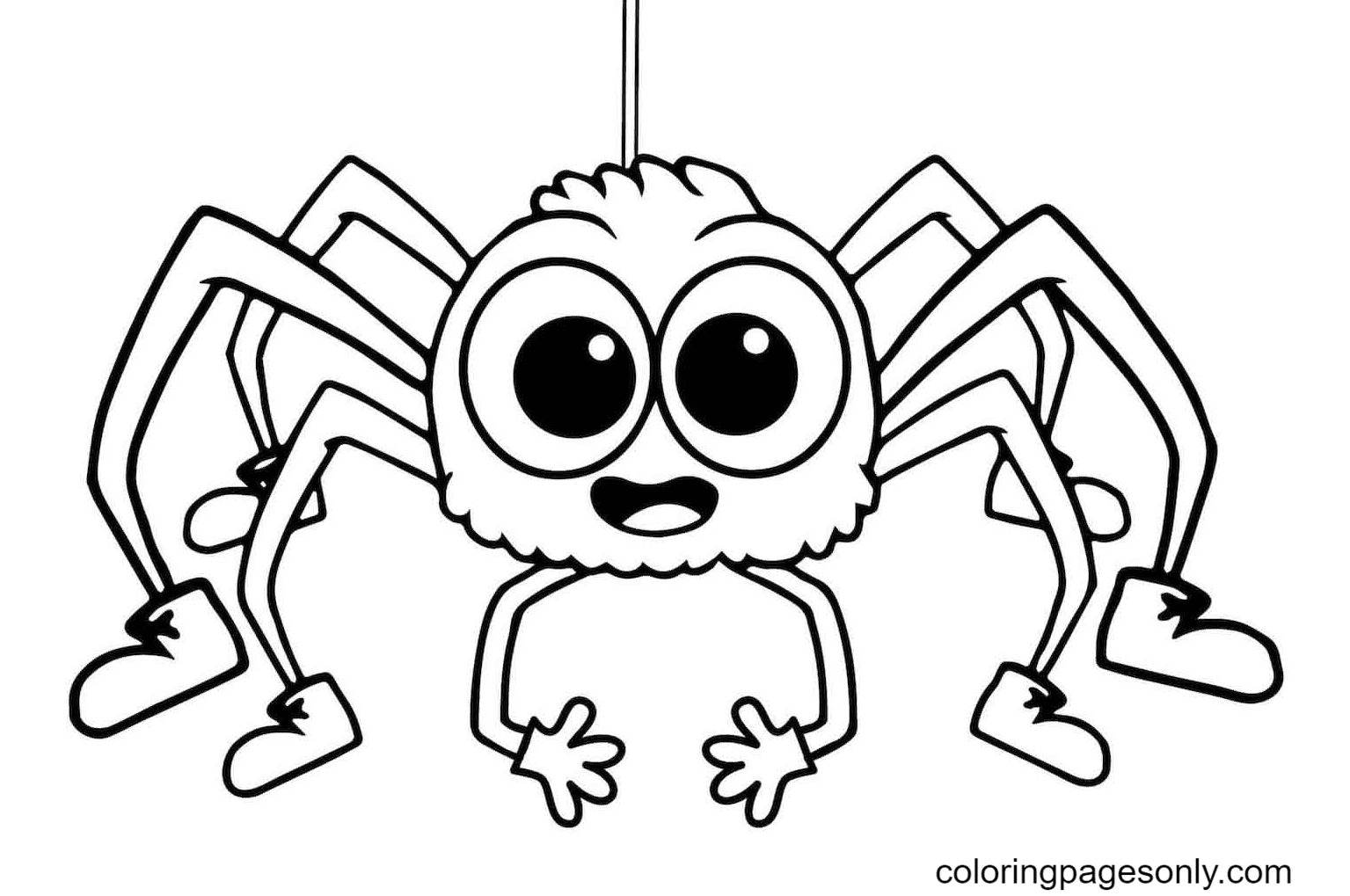 Printable Spider Halloween Coloring Page