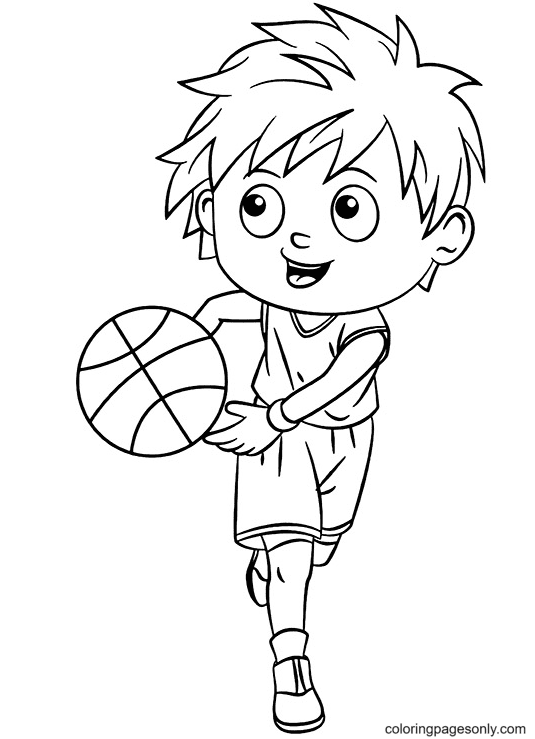 Professional Dribbling Coloring Page