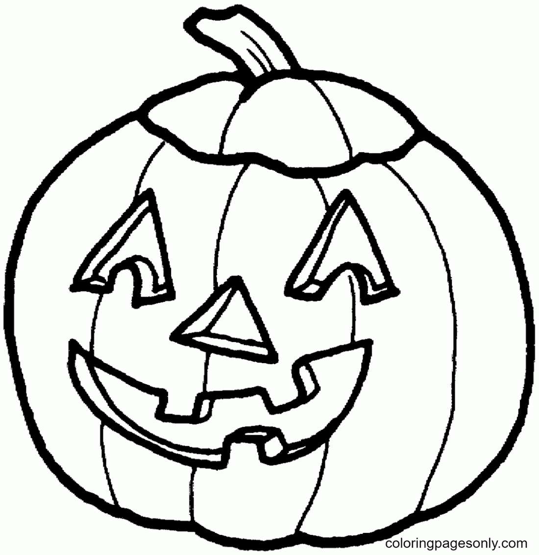 Pumpkin Halloween Free Coloring Page