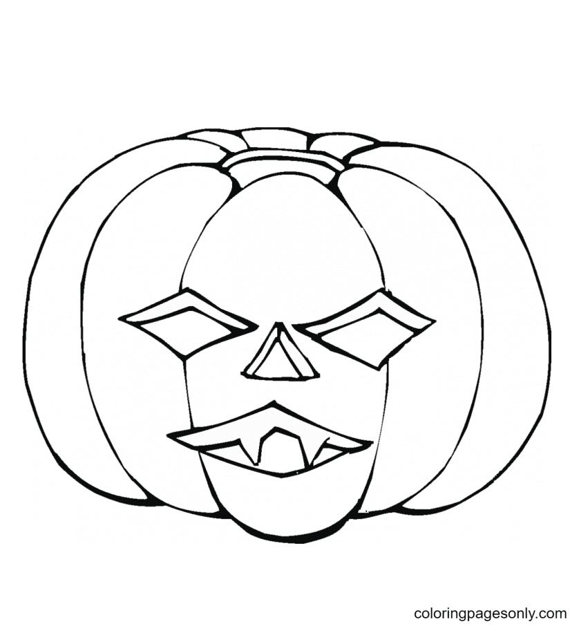 Pumpkin Halloween Printable Coloring Page
