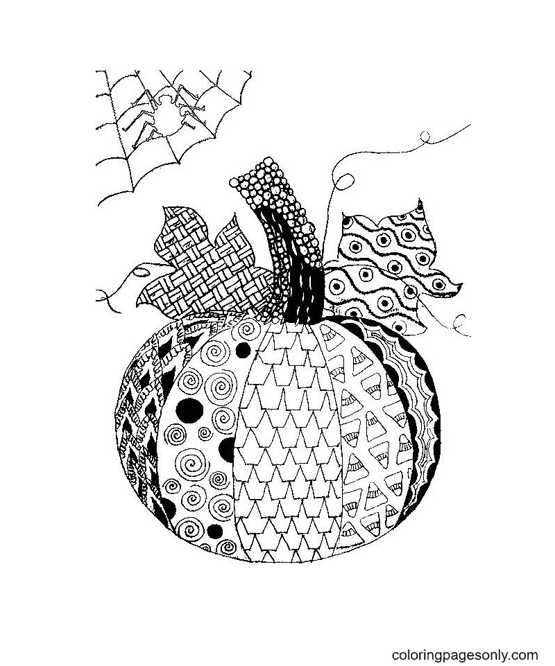 Pumpkin Mandala Free Printable Coloring Page