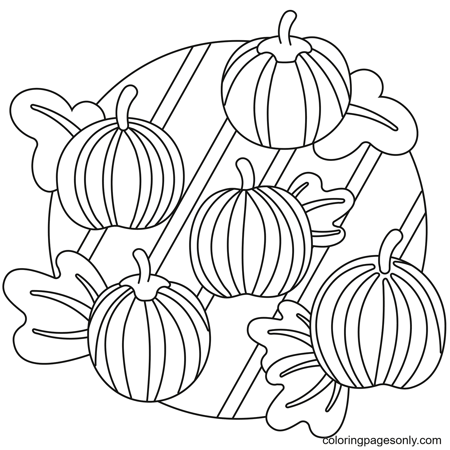 Pumpkin Patch Free Coloring Page