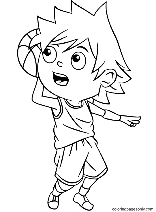 Ready To Score Coloring Page