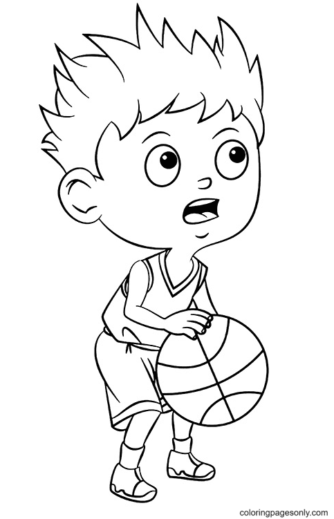 Ready to Throw the Ball Coloring Page