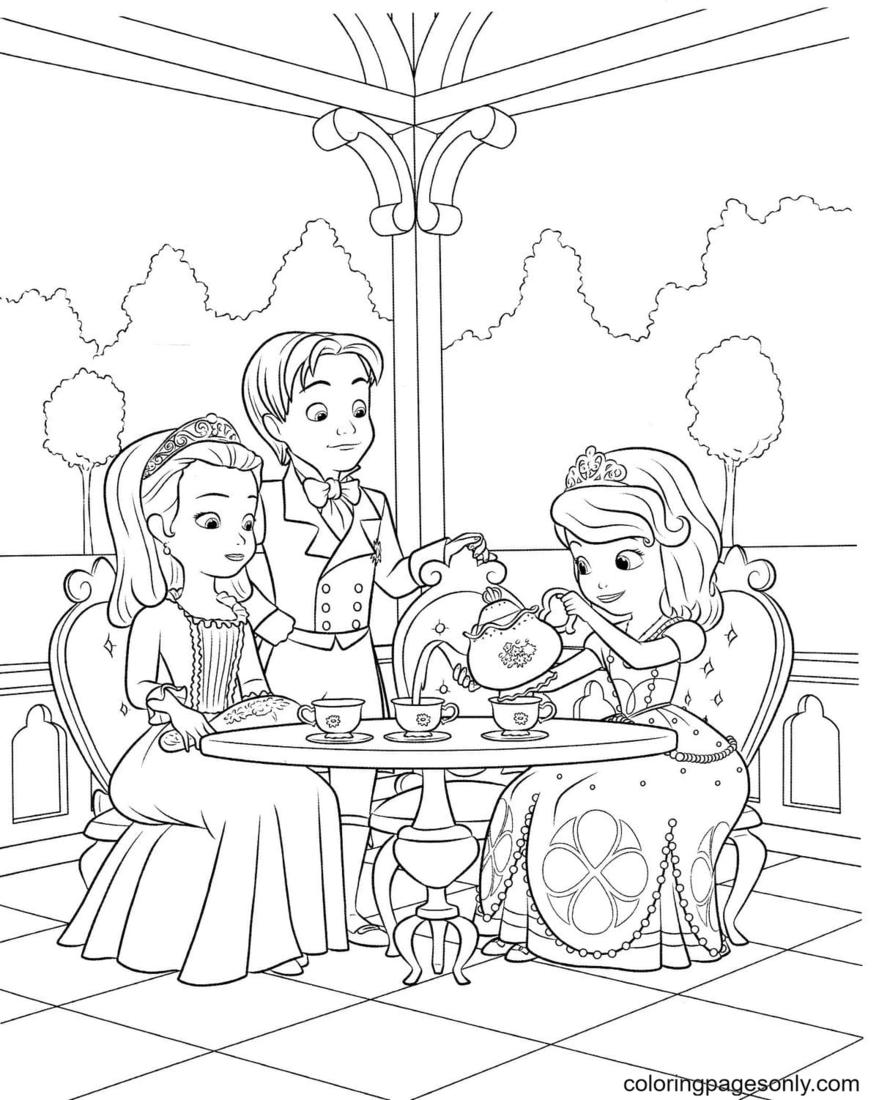 Royal Tea Party Coloring Page