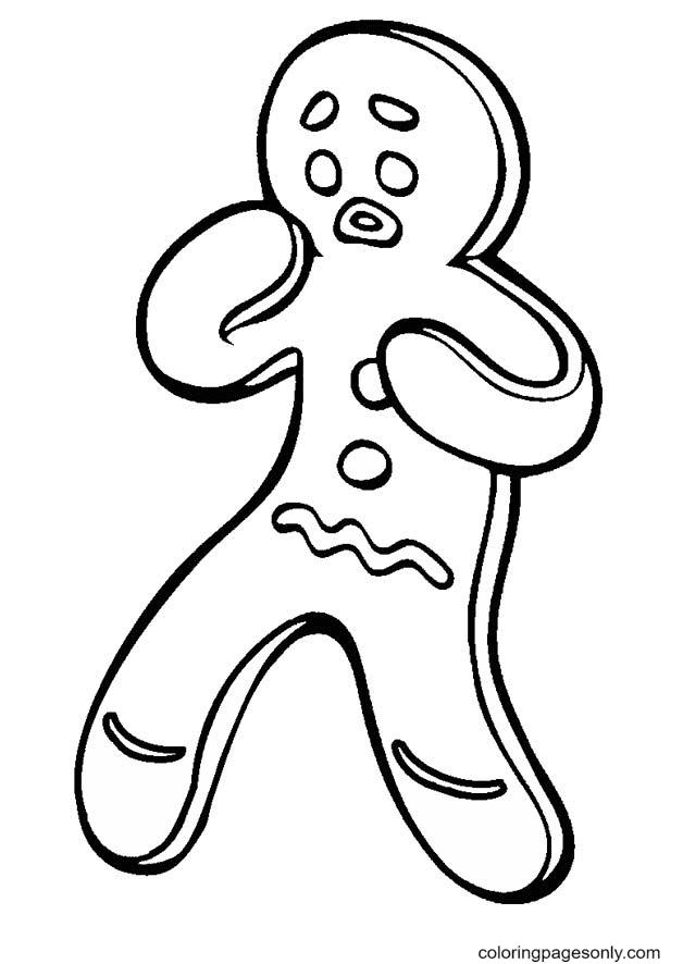 Sad Gingerbread Man Coloring Page