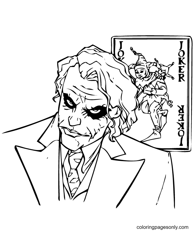 Scary Joker Coloring Page