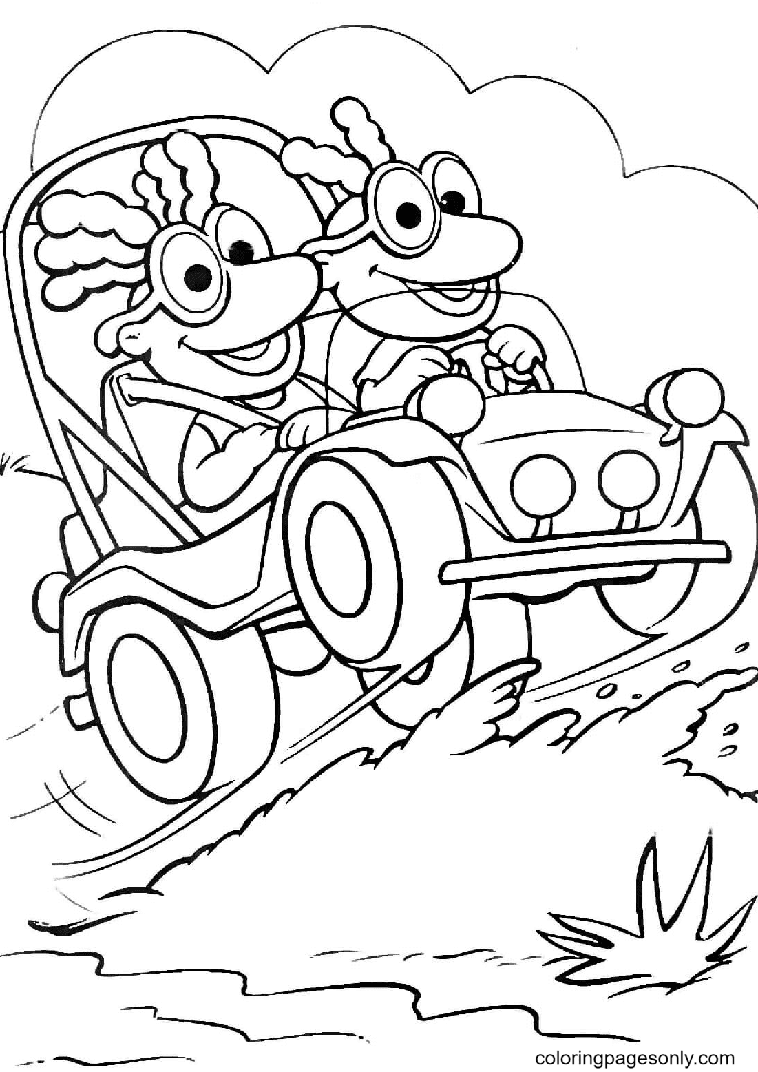 Scooter and Skeeter Coloring Page