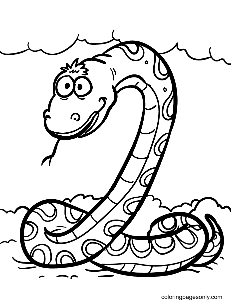 Silly Snake Coloring Page