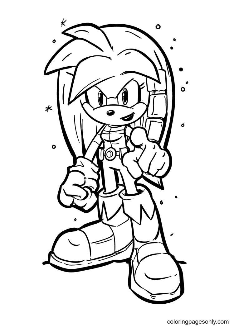 Silver The Hedgehog Coloring Page