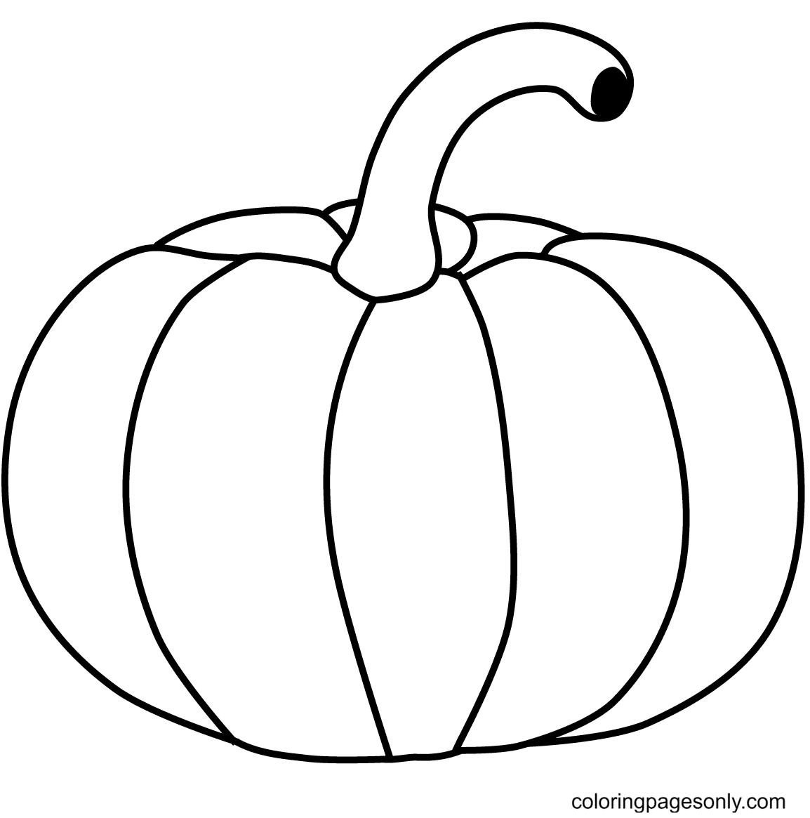 Simple Pumpkin Coloring Page