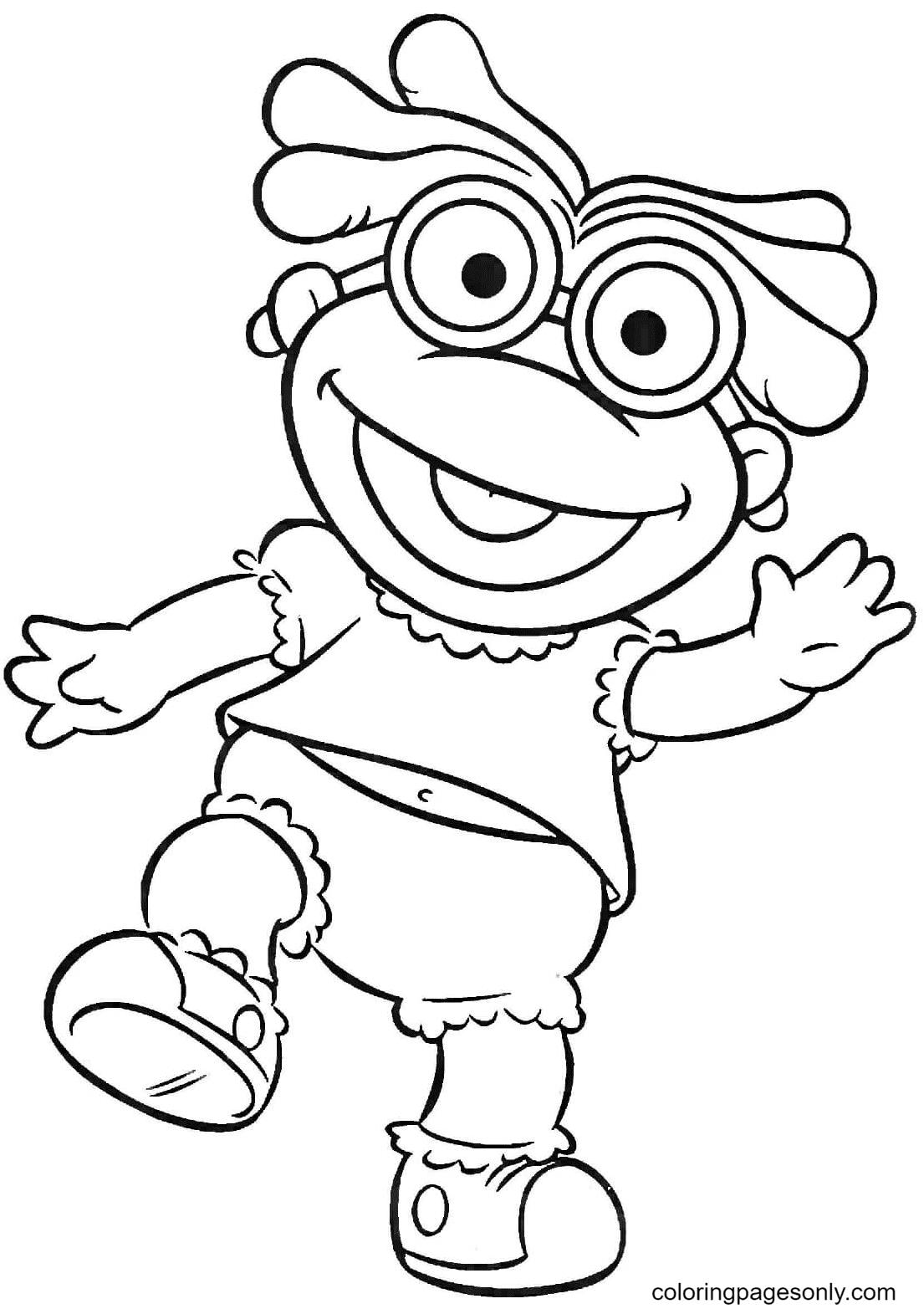 Skeeter Muppet Babies Coloring Page