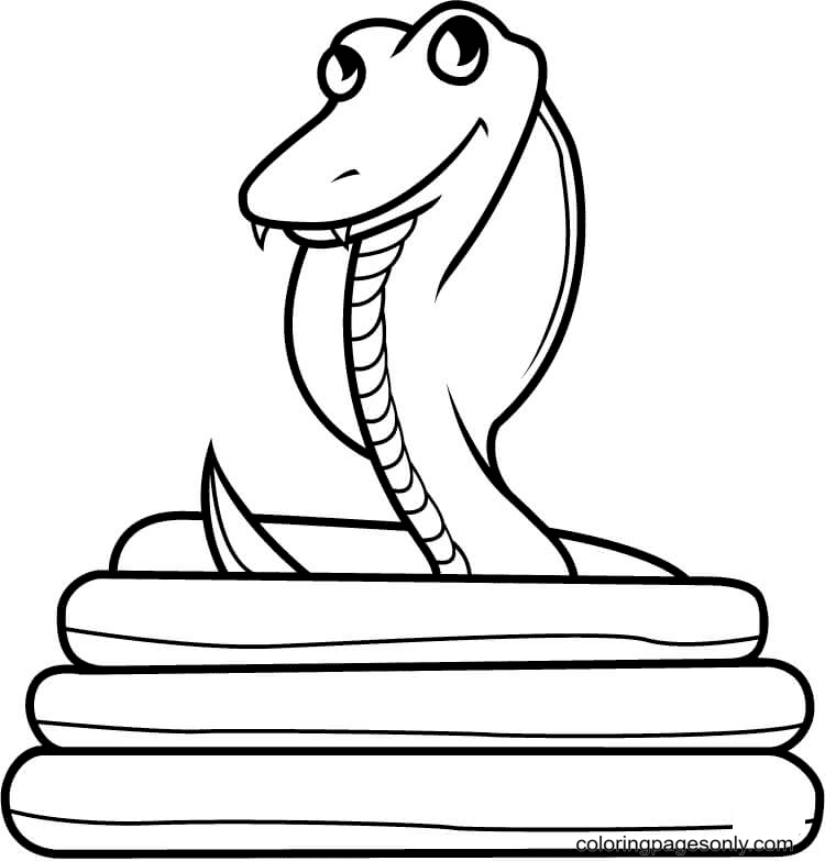 Smiling Cobra Coloring Page