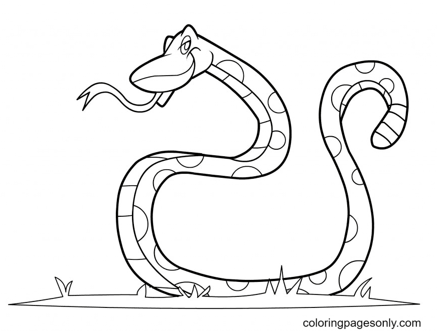 Snake Free Coloring Page